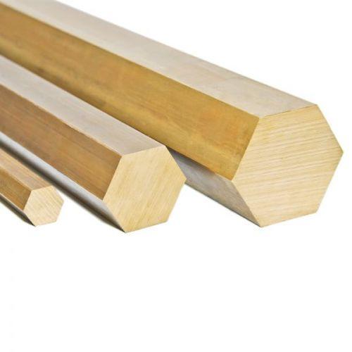 Brass Ø4mm-27mm hexagon 2.0401 hexagon rod Ms58 rod 6-point Ms solid mat, brass