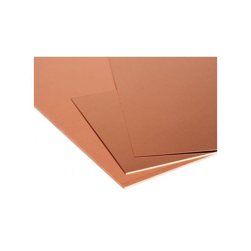 Меден лист 1 мм плочи Cu лист тънък лист избираем от 100 mm до 2000 mm, мед