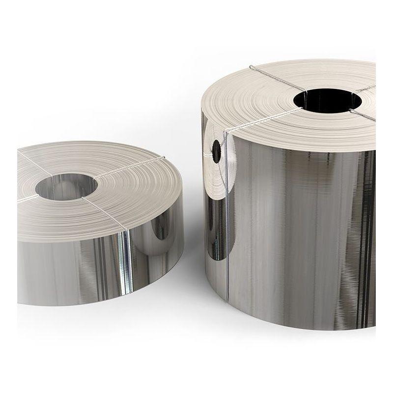 Лента от неръждаема стомана 1.4301 фолио 0,05x20mm до 0,4x200mm V2A 304 ламарина