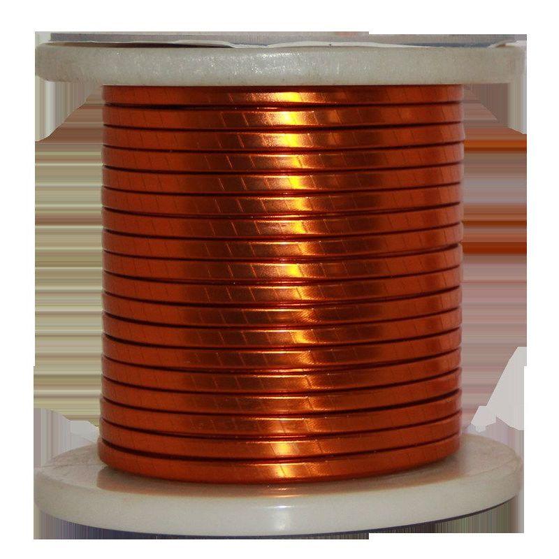 Flat wire enamel Ø 5-18mm copper wire W200 flat bar Cu 99.9% enameled wire craft wire