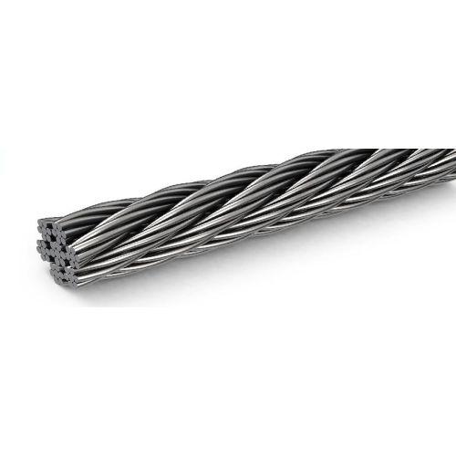 Ståltau i rustfritt stål dia 1-8mm 1.4406 V4A 5-250 meter 7x7 og 7x19 ståltau